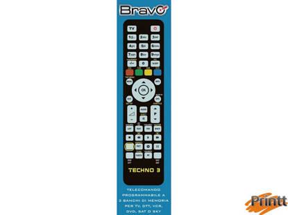 Immagine di TELECOMANDO UNIVERSALE BRAVO PER TV - DVD/VCR/DTT - SKY/SAT TECHNO 3